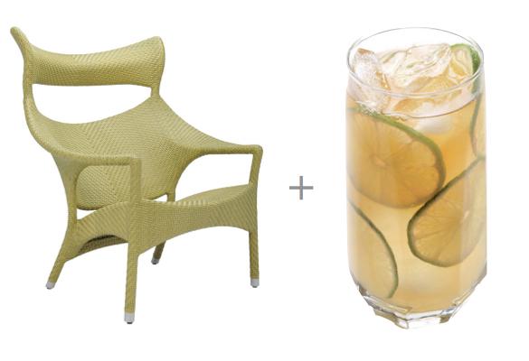 adult summer recipe, janus et die, island limeade recipe, adult limeade, Amari Lounge Chair, Modern Outdoor Lounge Chair