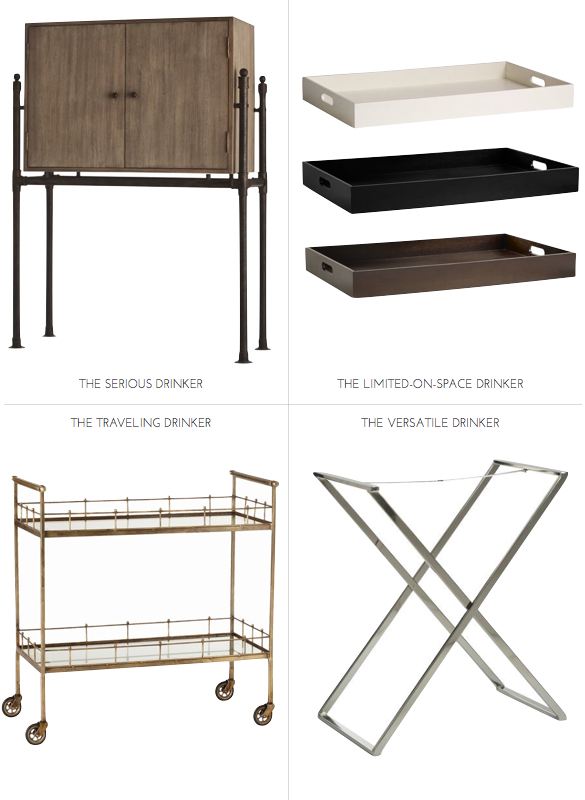 Bar cart, bar tray, bar furniture, modern bar cart, how to build a bar at home, designing you bar at home