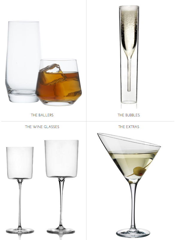 Modern Champagne Flute Glware High And Low Ball Gles Great