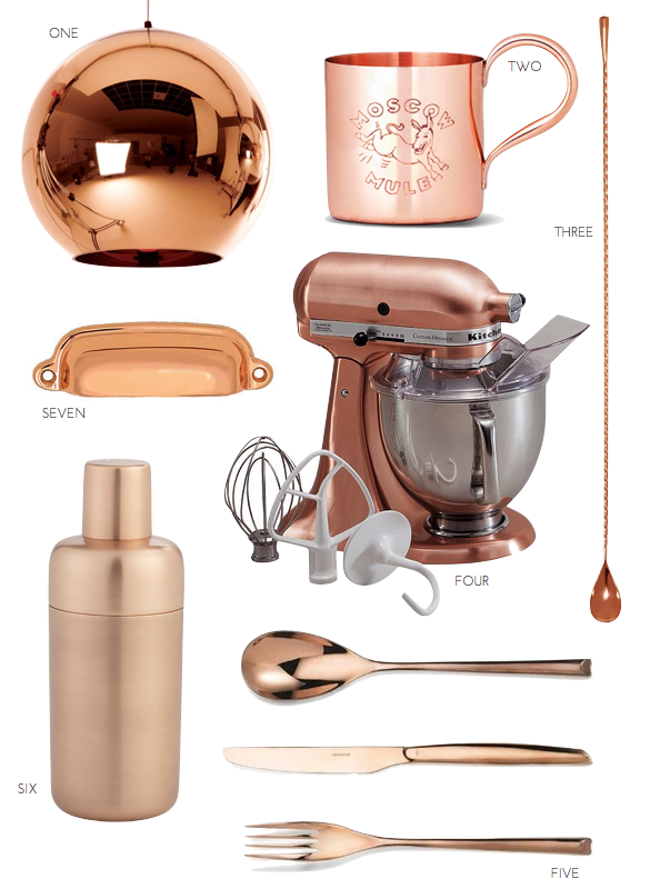 , pulp design studio, polished copper accents, copper kitchen accents