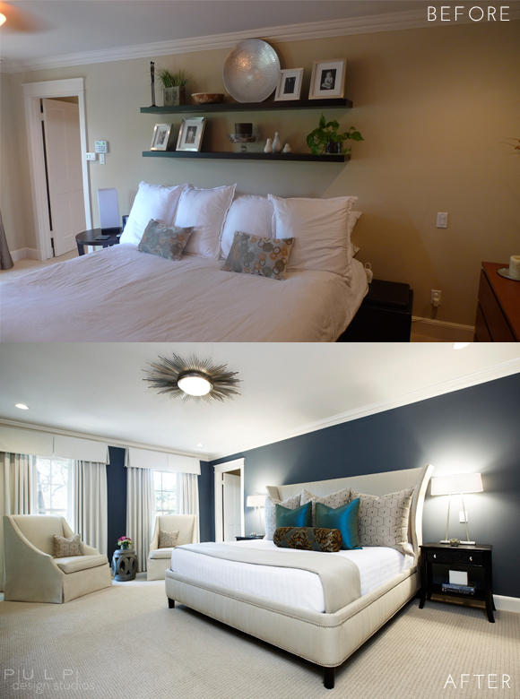 Before After Elegant Mod Master Suite Renovation Pulp Design Studios
