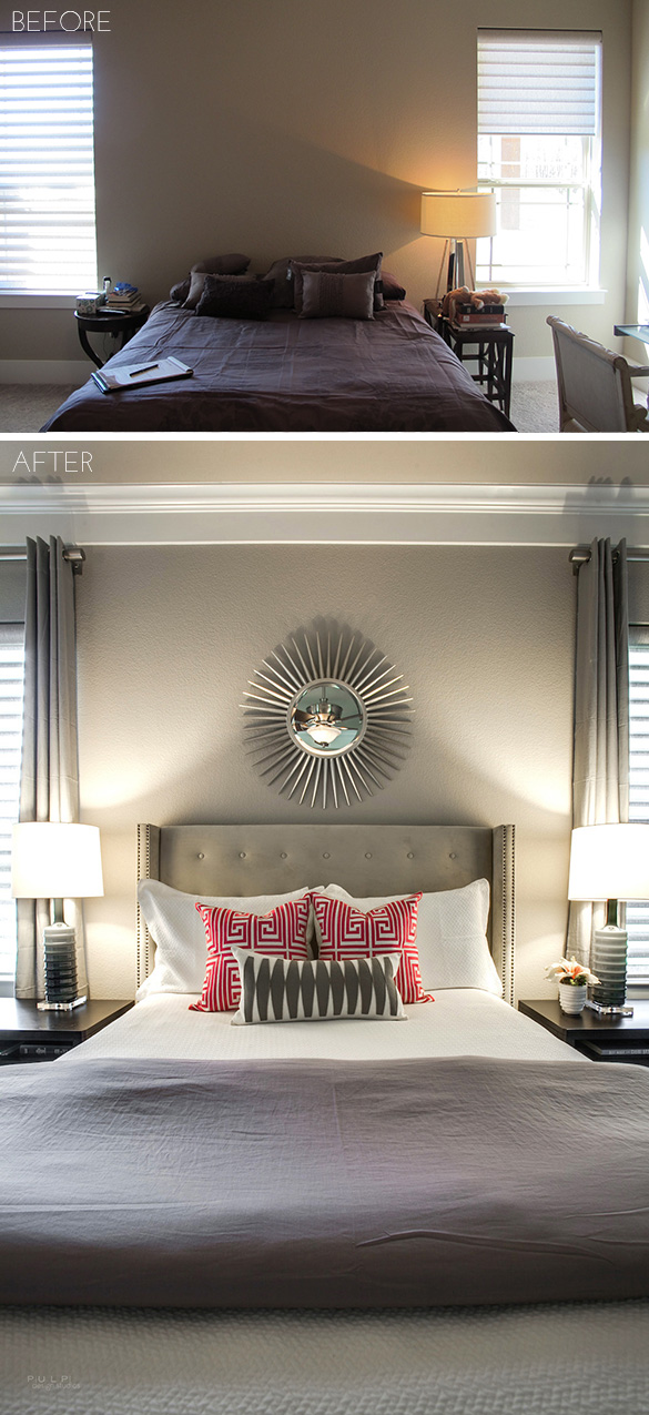 Pulp Design Studios Ponder Modern Bed Before and After
