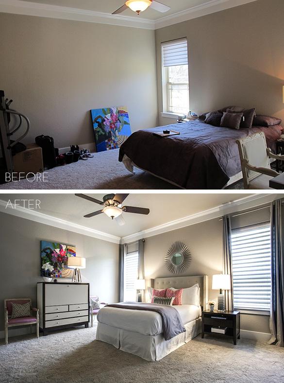 Before After Ponder Modern Master Bedroom Pulp Design