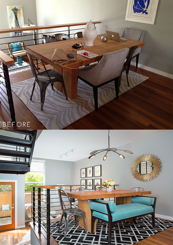 Before and After - Dining Room
