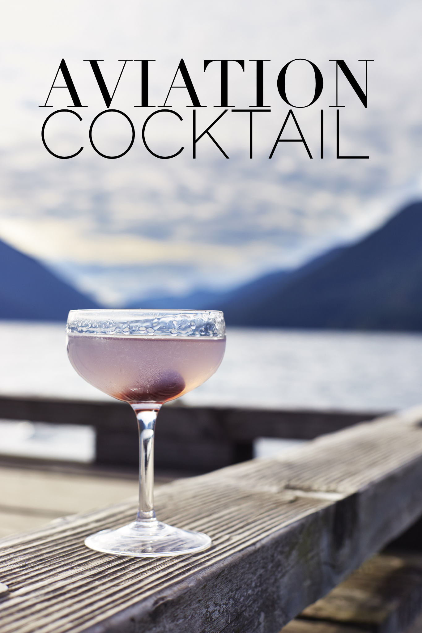 Aviation Cocktail Pulp Design Studios